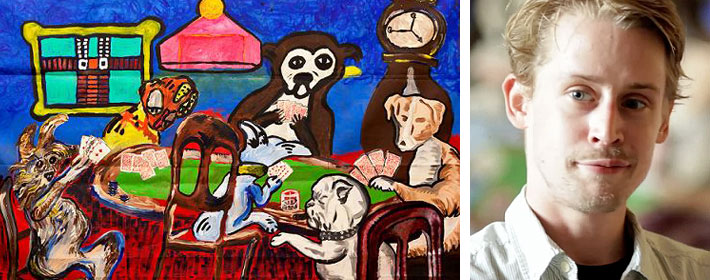     Macaulay Culkin Debuts New Art Collective And Their Celeb-Inspired Paintings