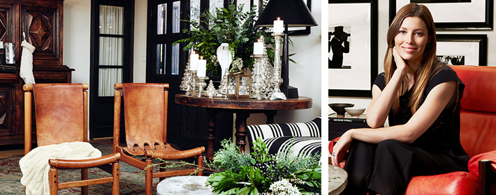 Jessica Biel Gives Us A Taste Of Her Holiday Decorating Style