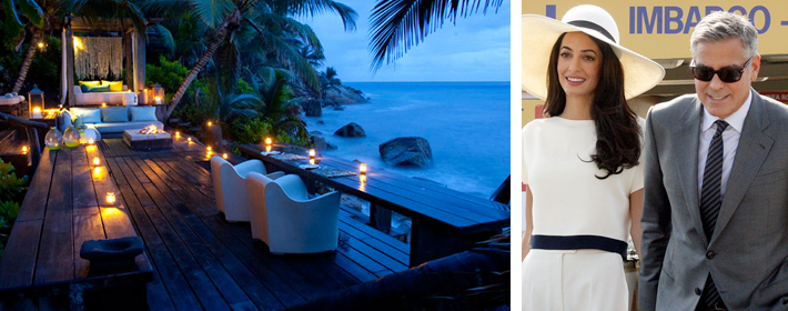 <strong>CELEBDIGS EXCLUSIVE</strong> - George Clooney And Amal Alamuddin Honeymoon At North Island In The Seychelles