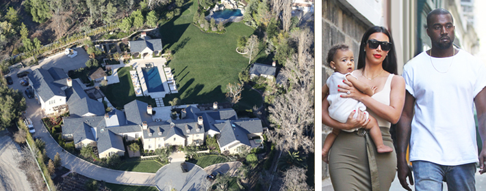<b>CELEBDIGS EXCLUSIVE</b> - Kim Kardashian And Kanye West Finally Move In To $20 Million Mansion