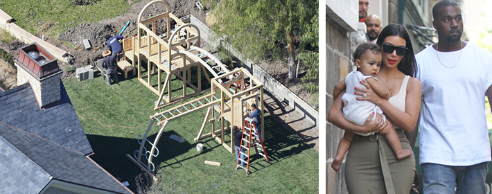 <strong>CELEBDIGS EXCLUSIVE</strong> - Kim Kardashian And Kanye West Build Nori Her Own Private Playground At Their $20 Million Mansion