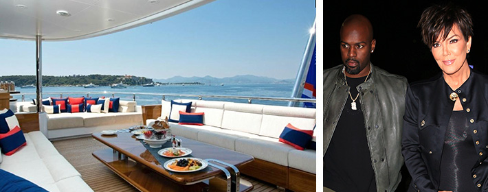 Kris Jenner And Boy Toy Corey Gamble Set Sail On $625K-A-Week Mega Yacht In St. Barth