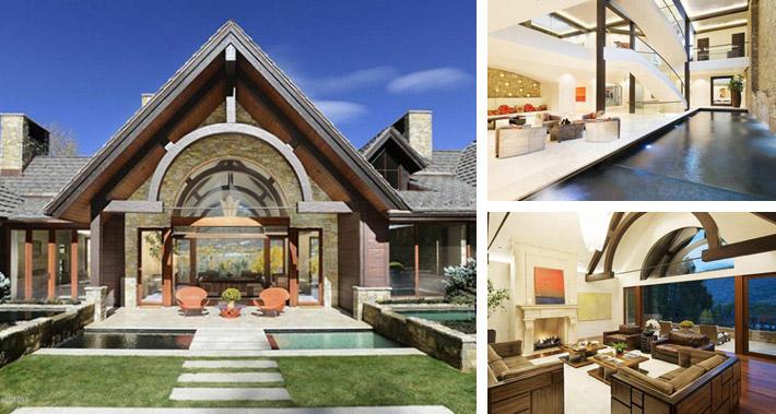 Celeb digs peek inside rihanna 39 s aspen vacation rental for Celebrity homes in aspen